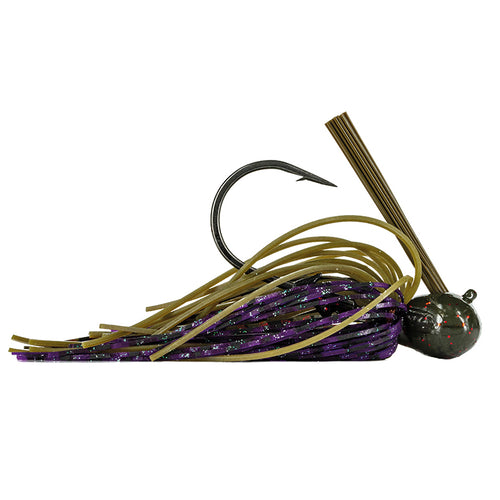 Molix GT Football Jig 3/4 oz / Green Pumpkin Red/Purple