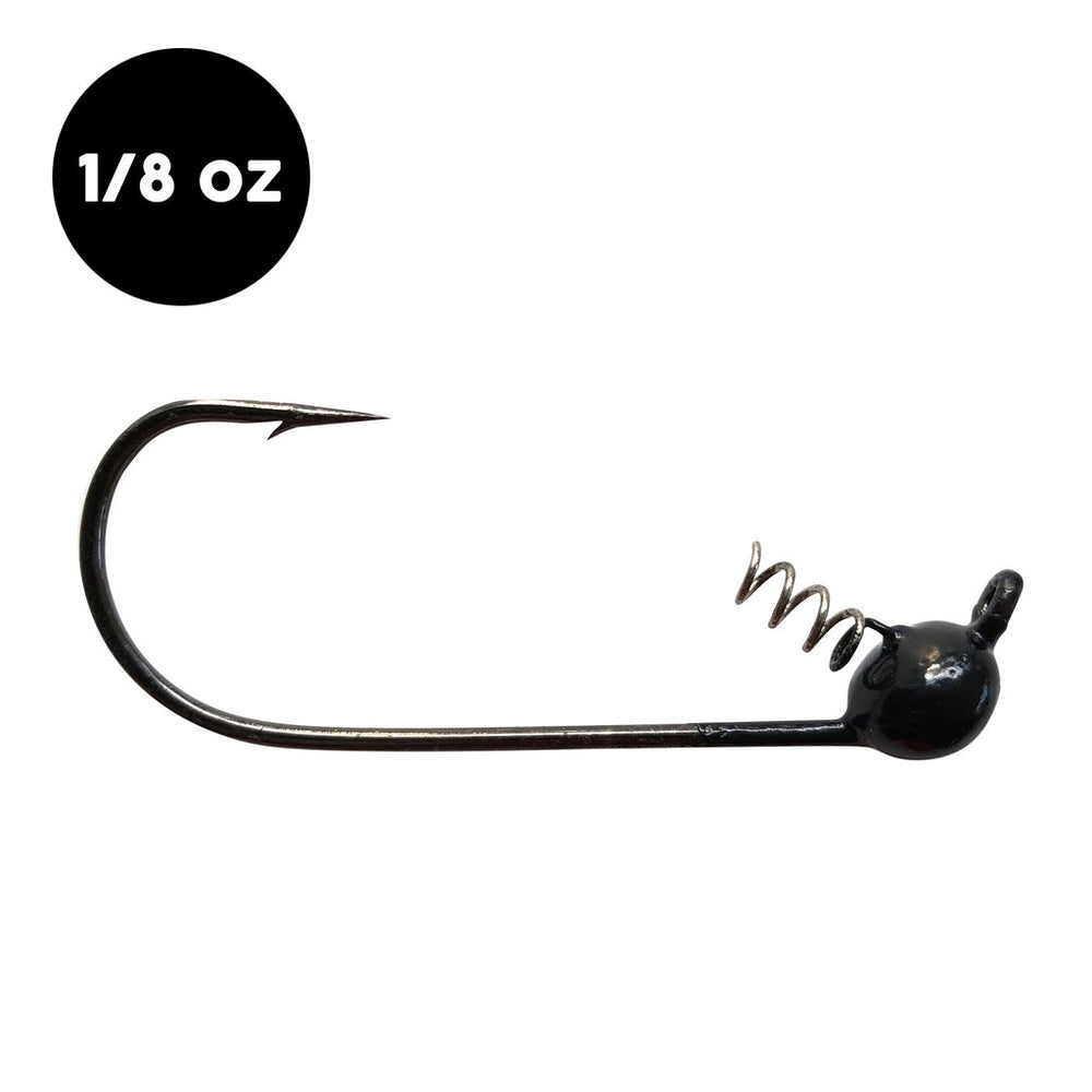 WOO! Tungsten Shaky Head Jig 1/8 oz / Black