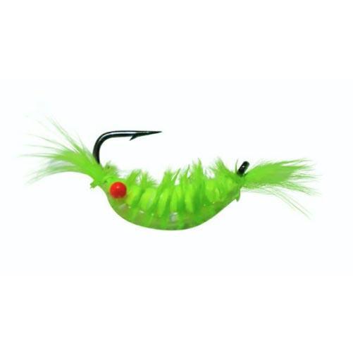 Kenders Tungsten Akua Red Eye Shrimp Jig 1/32 oz / Chartreuse