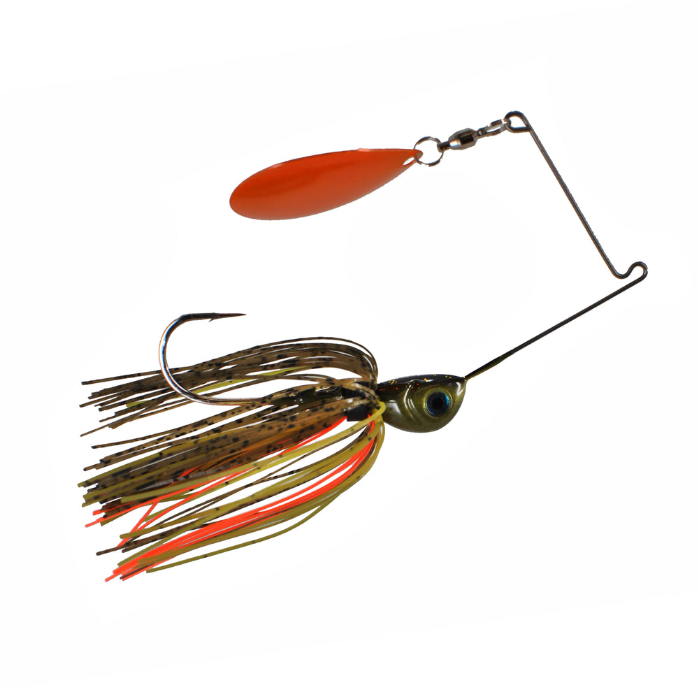Cumberland Pro Lures Insomniac Spinnerbait 3/4 oz / Lights Out - Orange Blade