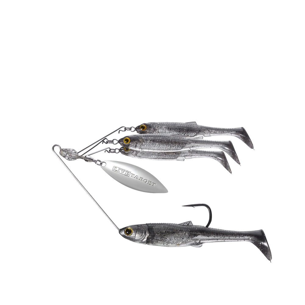 Live Target Bait Ball Spinner Rig Smoke / Silver / SMALL / 3/8 OZ