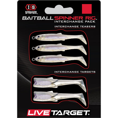 Live Target Bait Ball Spinner Rig Replacement Bodies MEDIUM / Crystal Mylar