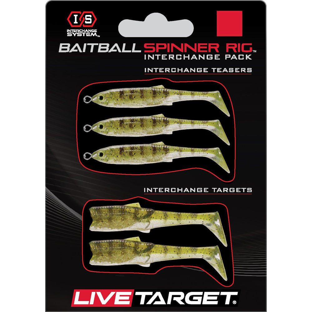 Live Target Bait Ball Spinner Rig Replacement Bodies MEDIUM / Gold Perch