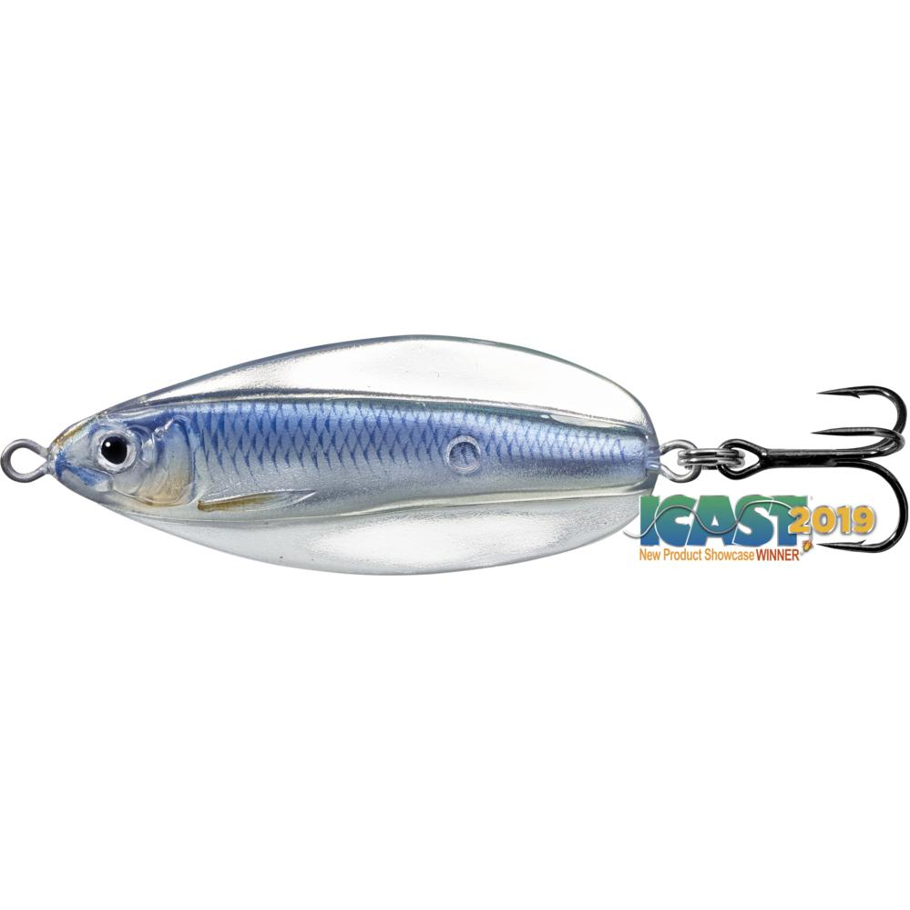 Live Target Erratic Shiner Spoon 1/4 oz / Silver/Blue