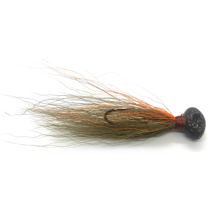 Venture Lures Football Head Hair Jig 5/16 oz / Olive Orange