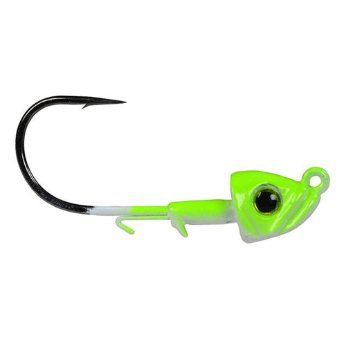 Picasso Lures Smart Mouth Plus Fish Head Jig 1 oz / Chartreuse/White / 5/0