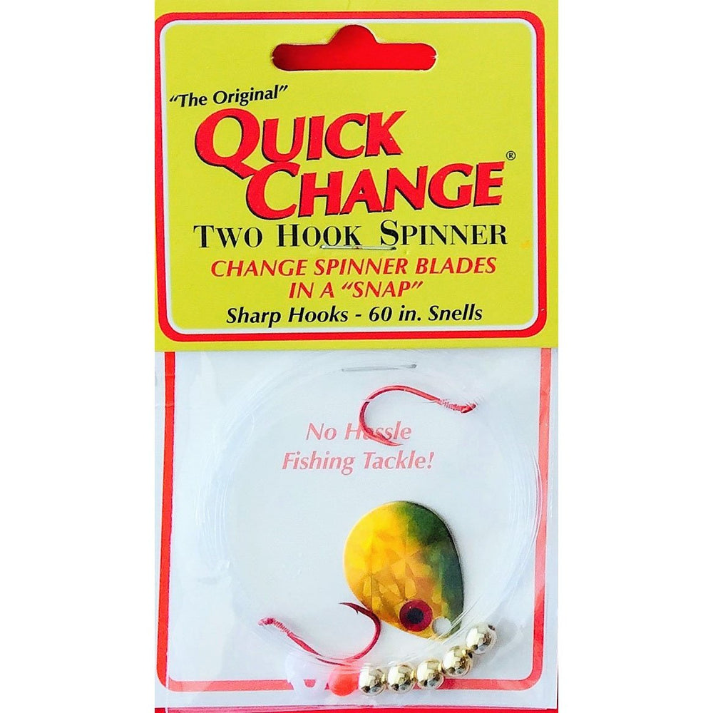 Quick Change Fish Candy Spinner Rig GOLD SHINER / #3 COLORADO / Double Hook