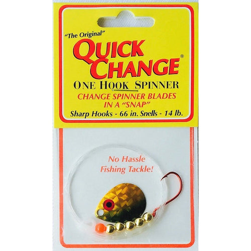 Quick Change Fish Candy Spinner Rig GOLD SHINER / #3 COLORADO / Single Hook