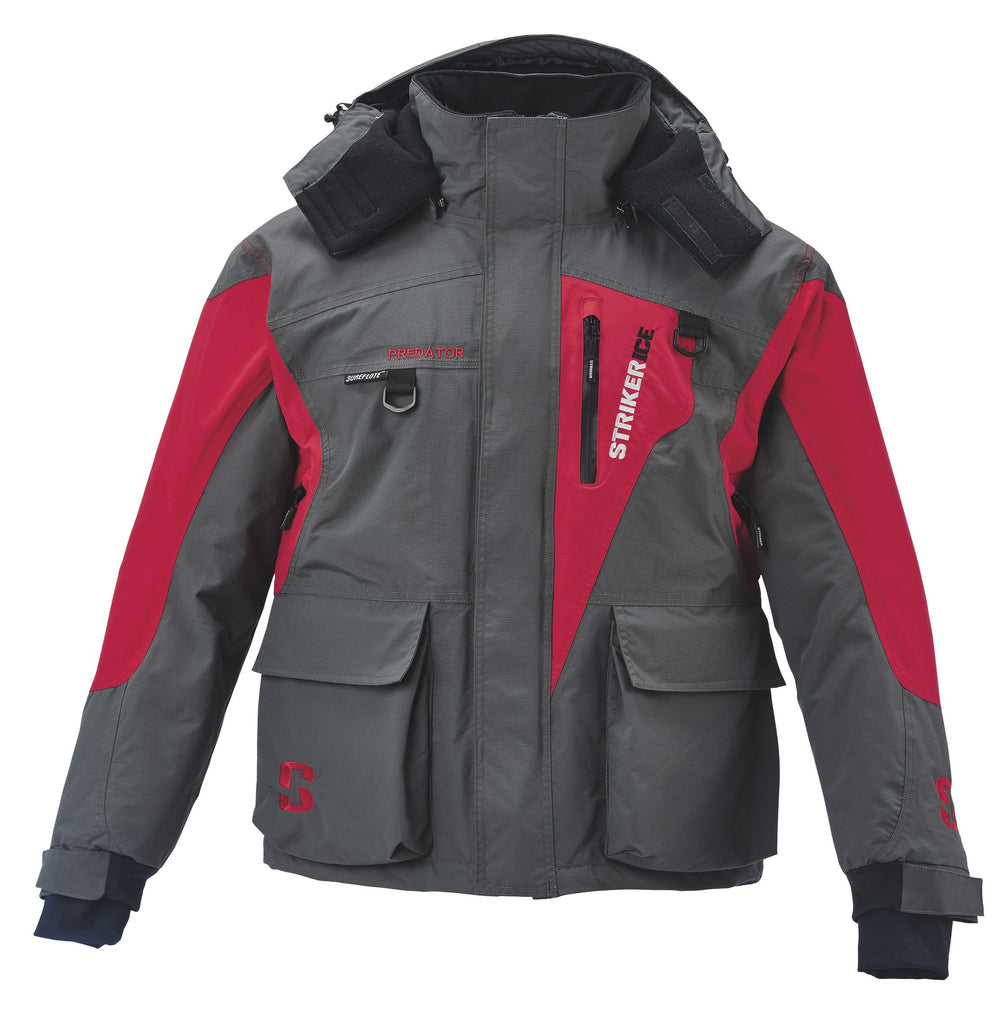 Striker Ice Predator Jacket Large / Gray/Red