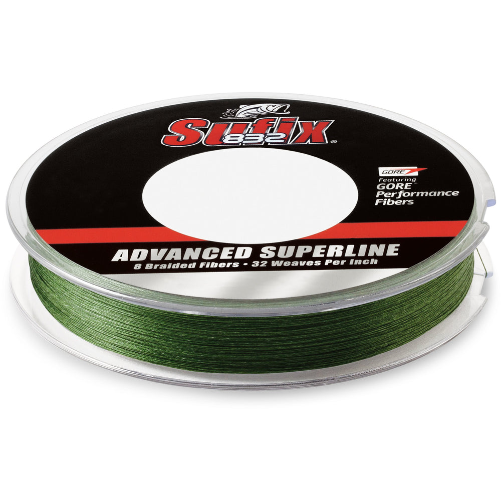 Sufix 832 Braid 40LB / Low-Vis Green / 150 Yards