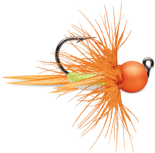 VMC Tungsten BullFly Jig 1/32 oz / Orange Chartreuse Glow