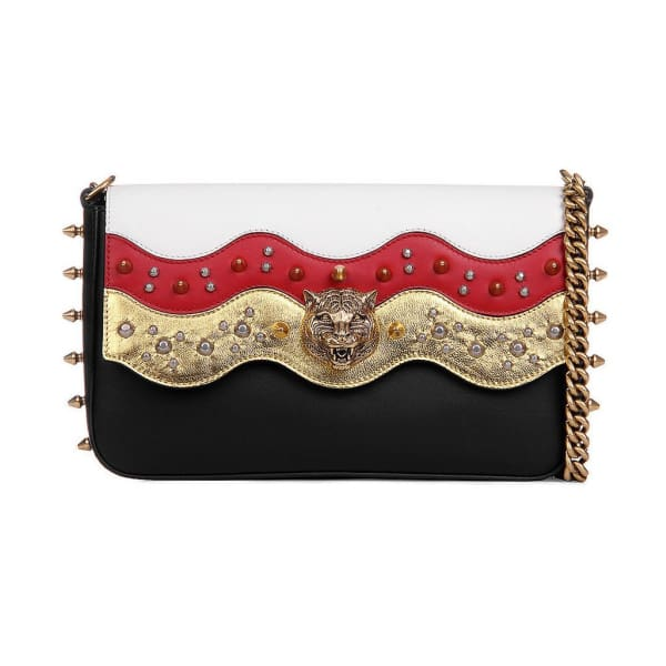 Gucci Broadway Spiked Chain Shoulder Bag Bags - Shoulder Bags - Gucci | Designer Surplus Ny