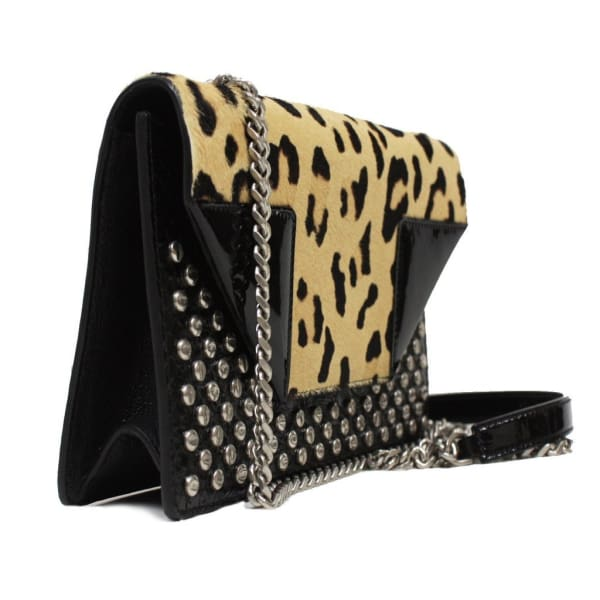 Saint Laurent Leopard Chain Crossbody Bag Crossbody Bags - Saint Laurent | Designer Surplus Ny