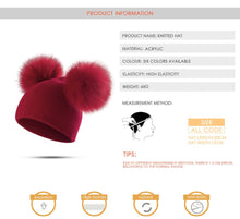 Load image into Gallery viewer, Children Hat Toddler Kids Baby Warm Winter Wool Hat Knit Beanie Fur Pom Hat Boys Girls - hellomybb