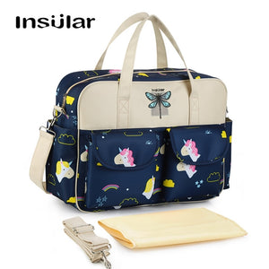 Stylish Large Diaper Tote Bag Cute Nappy Mommy Maternity Baby Bag For Shoulder Messenger Stroller - hellomybb