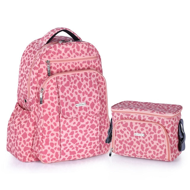 Diaper Bags Backpack and Thermal Insulation Bags SET For Baby Care Strollers Diaper Bag for Twins - hellomybb
