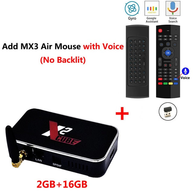 X2 CUBE Smart Android 9.0 TV Box Amlogic WiFi 1000M Bluetooth 4K HD Media Player - hellomybb