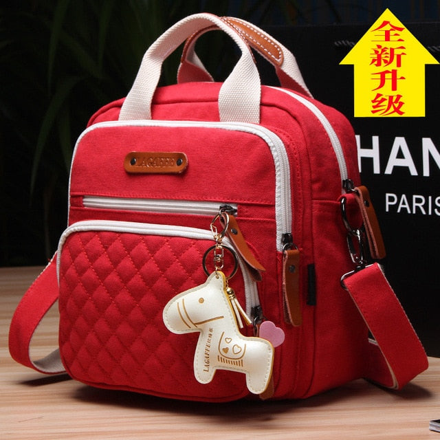Baby Diaper Bag Mother Care Baby Stroller Bags Nappy Bag for Mom with Horse Ornaments - hellomybb