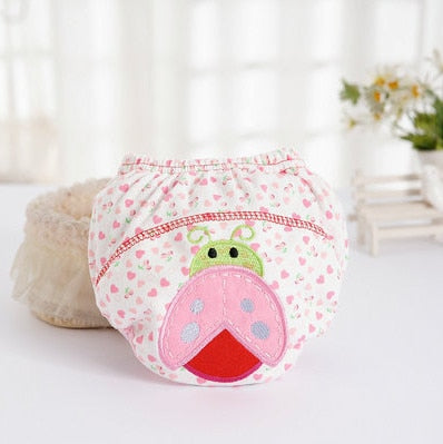 1Pcs Cute Baby Diapers Reusable Nappies Cloth Diaper Washable Infants Children Baby Cotton Training Pants Panties Nappy Changing - hellomybb