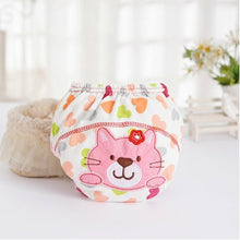 Load image into Gallery viewer, 1Pcs Cute Baby Diapers Reusable Nappies Cloth Diaper Washable Infants Children Baby Cotton Training Pants Panties Nappy Changing - hellomybb