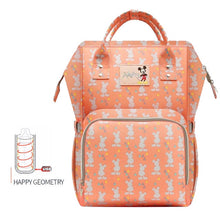Load image into Gallery viewer, Disney Waterproof Diaper Bags USB Bottle Backpack Baby girl Diaper Bags - hellomybb