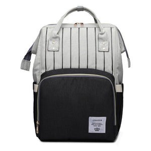 Designer Nursing Bag For Mother Striped Maternity Nappy Bag Large Capacity - hellomybb