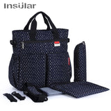 Diaper Bag for Girls Multifunctional Nappy Bags Waterproof Mommy Bag Tote hand - hellomybb