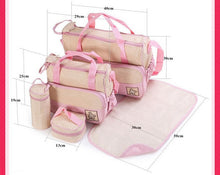 Load image into Gallery viewer, 5pcs Baby Diaper Bag Suits For Mom Baby Bottle Holder Mother Nappy Bags Sets - hellomybb