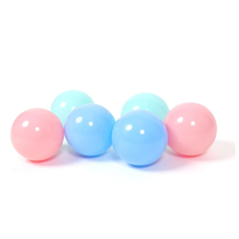 100 pcs/lot Eco-Friendly Colorful Ball Soft Plastic Ocean Ball Funny Baby Kid Swim Toy Water Pool Ocean Wave Ball 7cm - hellomybb