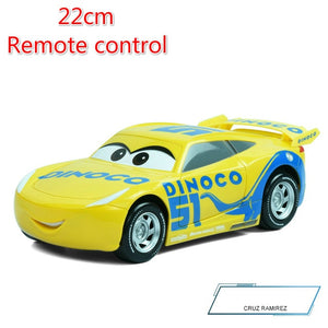 22cm Disney Pixar Cars 3 Remote Control Storm Metal Car Toys Boys Birthdays Gift - hellomybb