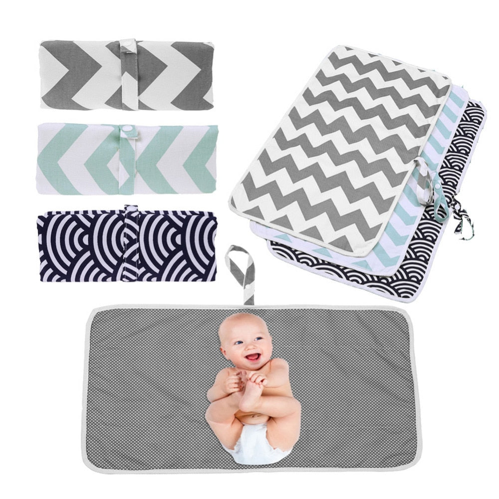 Baby Portable Foldable Washable Compact Travel Nappy Diaper Changing Waterproof - hellomybb
