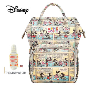 Disney USB Waterproof Diaper Bags Oxford Cloth Storage Bag Mummy Travel Backpack - hellomybb