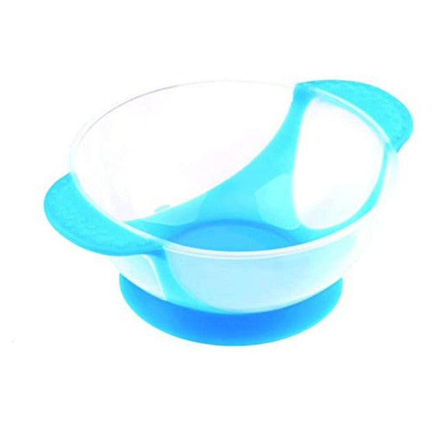 Temperature Sensing Feeding Spoon Child Tableware Food Bowl Learning Dishes Service Plate Suction up - hellomybb