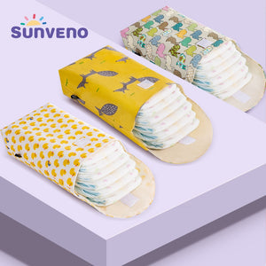 Multifunctional Baby Diaper Organizer Reusable Waterproof Fashion Prints Wet/Dry Bag - hellomybb