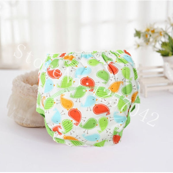 Baby Cotton Training Pants Panties Baby Diapers Reusable Cloth  Washable Underwear Nappy Changing - hellomybb