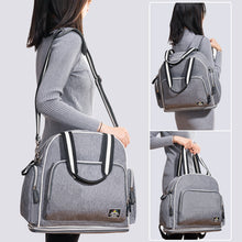 Load image into Gallery viewer, Shoulder Diaper Bag Large Capacity Maternity Hand Grey Baby Bag online shop - hellomybb