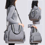 Shoulder Diaper Bag Large Capacity Maternity Hand Grey Baby Bag online shop