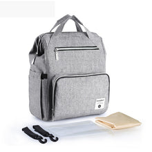 Load image into Gallery viewer, Diaper Bag Backpack Large Capacity Nappy Nursing Bags  with Stroller Straps/Wet Bag/Changing Pad - hellomybb