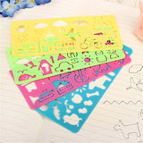 4pcs Stationery Ruler School Painting Supplies Drafting Tool Art Drawing Plastic DIY - hellomybb
