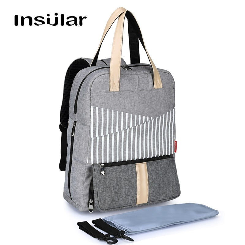 Large Capacity Diaper Bag Backpack Maternity Baby Nappy with Stroller Straps and Changing Pads - hellomybb