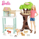 Original Barbie  Doll Animal Rescuer Doll & Playset Kit Cute Room Baby Toys Girl Birthday Gift - hellomybb