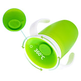 360 Degrees Baby Learning Drinking Cup With Double Handle 360 Spoutless Training Cup - hellomybb