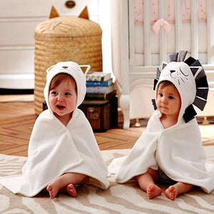 Baby Bath Towel 100% Cotton Hooded Towel Newborn Towels Lion Kids Towel Hooded Blanket - hellomybb