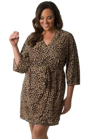 Plus Wild For You Robe - LingerieDiva