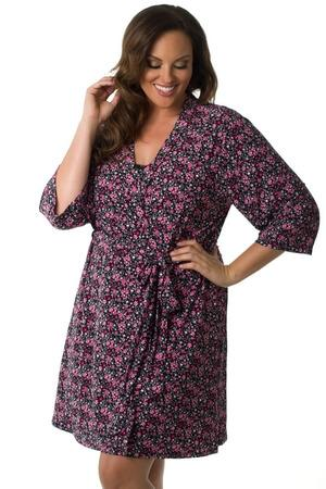 Plus Love Garden Robe - LingerieDiva