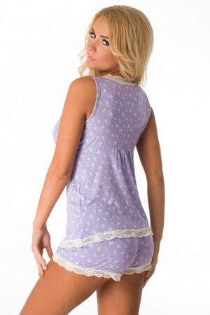 Lavender Fields Short PJ Set - LingerieDiva
