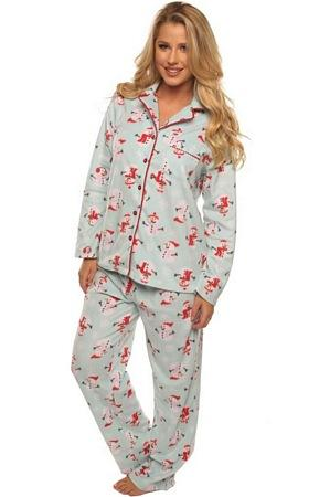 Snowman Holiday PJ Set