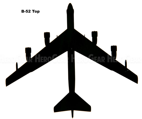 B-52 Stratofortress Top View Vinyl Decal