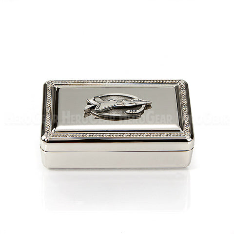 Solaris Silver Beaded Rectangle Box