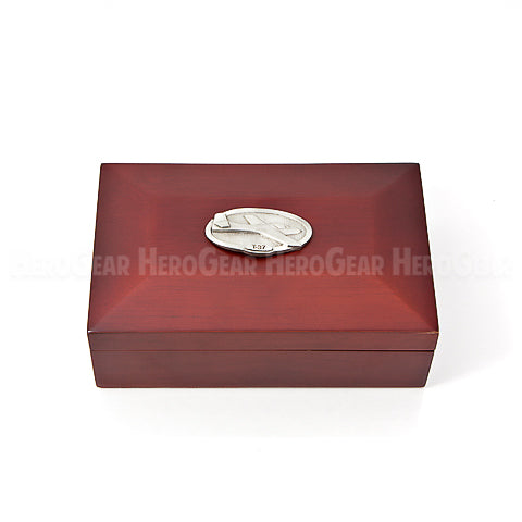 Flaps Wood Mirror Rectangle Jewelry Box